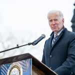 "Columbia, South Carolina, USA - January 20, 2020: Presidential hopeful Joe Biden (D) speaks to attendees of the the 20th annual ""King Day At The Dome"" rally held at the S.C. Statehouse Columbia, SC, USA"