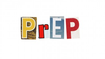 PrEP spelled out in colorful letters