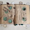 Gin Fong Louie, Title unknown, c. 1993, Altered book with marbles, glasses, other ephemera