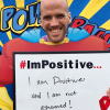 Dustin Thompson of Long Beach, California, in the #ImPositive campaign