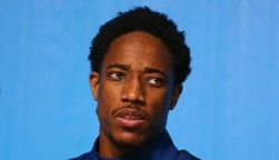 Olympic champion DeMar DeRozan during men's basketball team USA press conference at Rio 2016 Olympic Games Press Center