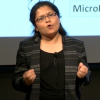 Sona Chowdhury, PhD, delivers her winning talk at the 2018 Postdoc Slam competition on September 26.