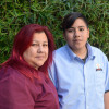 Adrian Mejia and his mother, Saira Diaz