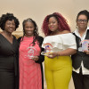 Iris House executive director Ingrid Floyd with 2019 honorees, Gina Brown, MSW; Kimberly Canady; and Antionettea Etienne