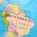 map South America Brazil